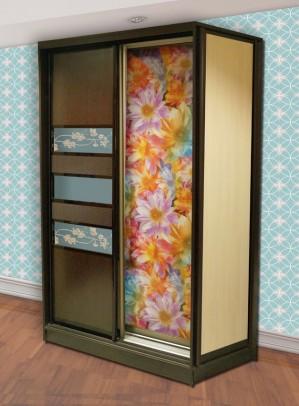 Двухдверный шкаф. Комбинация вставок 3
