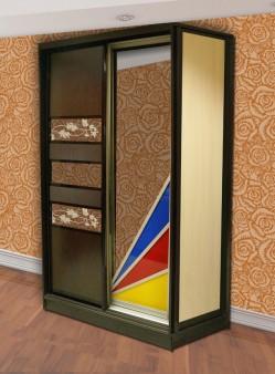 Двухдверный шкаф. Комбинация вставок 2