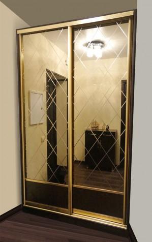 Шкаф купе  2-х дверной комбинированный