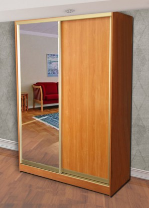Шкаф купе 2-х дверный (зеркало слева)