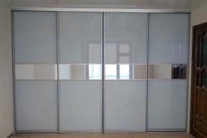 Шкаф купе  4-х дверной встраиваемый комбинированный